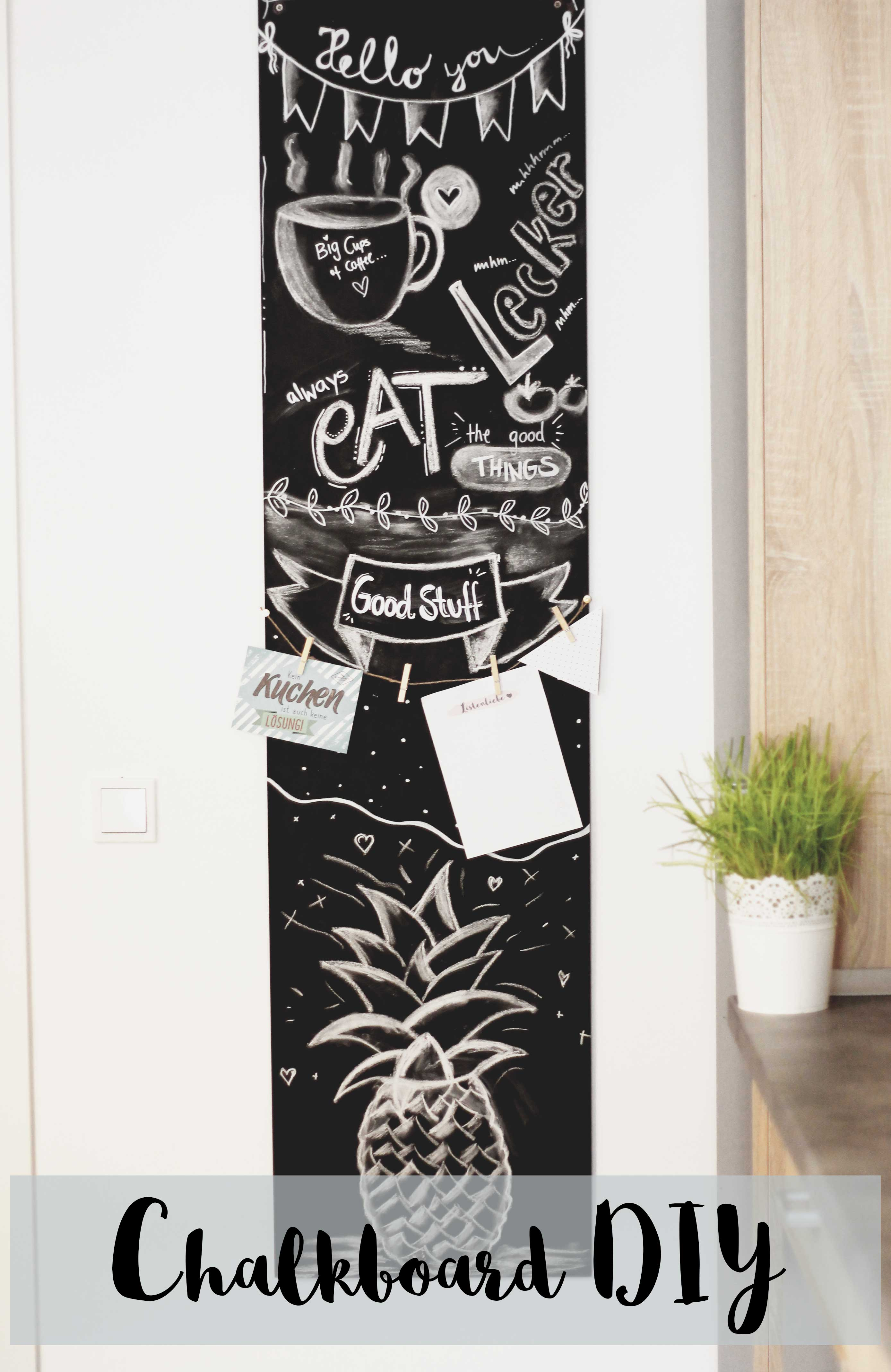 chalkboard diy tafel deko f r unter 20 inspirationen. Black Bedroom Furniture Sets. Home Design Ideas