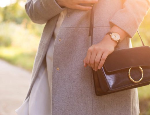 about you outfit: oversized blouse and timeless grey coat