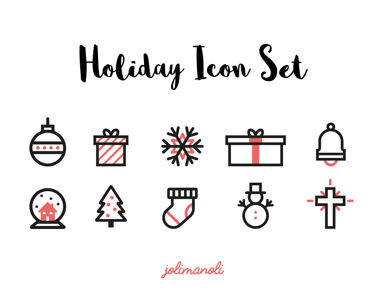 DIY_Weihnachtskarten_holiday_icon_set