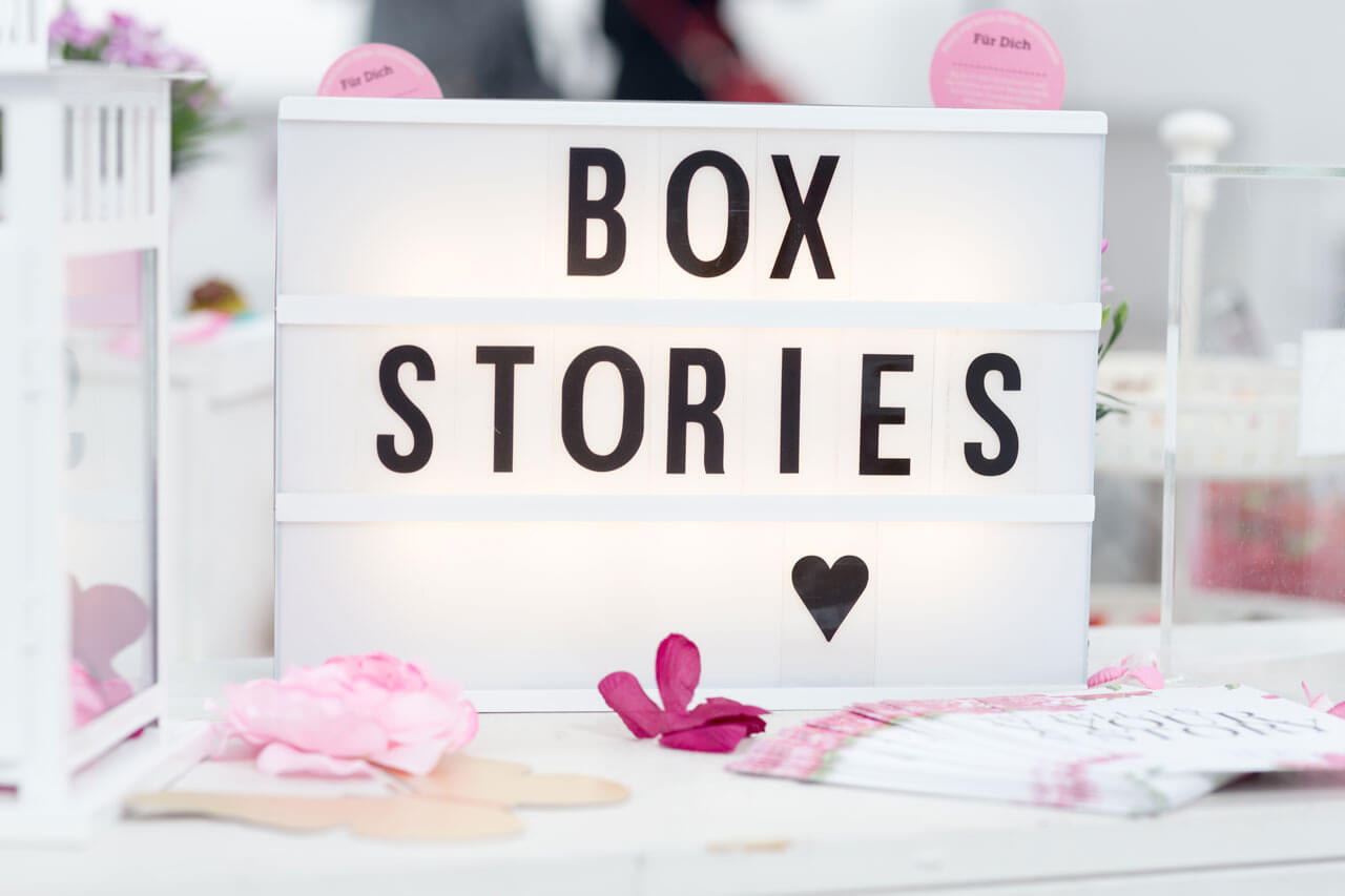 Box Stories Launch April 2017 Go Feminin im White Loft Düsseldorf