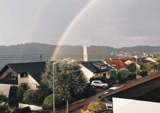 Regenbogen. Monthly Moments September: Balkonliebe und Aussicht.